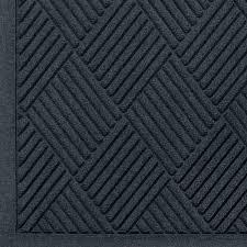 andersen 221 waterhog fashion diamond polypropylene fiber entrance indoor outdoor floor mat sbr rubber backing 3 length x 2 width 3 8 thick charcoal