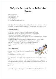Dialysis Technician Resume Awesome Mechanic Example Best Pdf Classy Dialysis Technician Resume Pdf