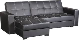 Sofa bed with chaise Grey Belize 2piece Storage Futon With Chaise Blacksofalit De Rangement The Brick Sofa Beds And Futons The Brick