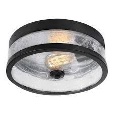 ina 1 light dark bronze flushmount light