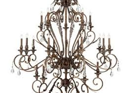 franklin iron works chandelier franklin iron works acanthus and crystal 68 wide bronze chandelier in al