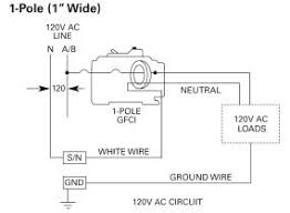 siemens qf120 20 amp 1 pole 120 volt ground fault circuit single pole gfci wiring diagram