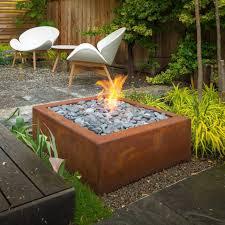 modern patio fire pit. Bento 32 Corten Fire Pit Modern Patio