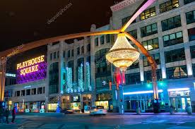 of cleveland s splashiest new landmarks is the giant chandelier suspended above euclid avenue in the center of the theater district playhouse square