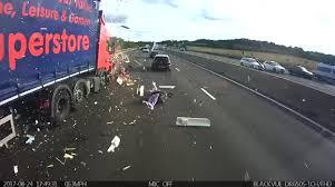 Newsflare - Truck completely demolishes caravan in collision on UK ...