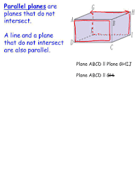 parallel planes. 2 parallel planes