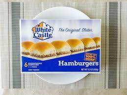 white castle hamburger sliders