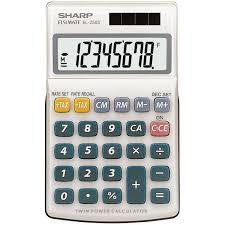 sharp calculator. sharp calculator el-250s. hover to zoom