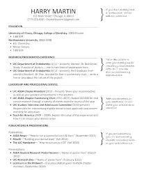 Dental Resume Format Post Graduate Resume Sample Resume For Dummies