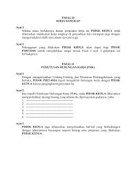 Perjanjian hukum yang mengatur ketenagakerjaan. Contoh Surat Perjanjian Kontrak Kerja