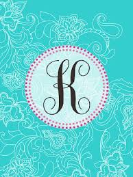 Free Monogram Printables From The Pink Elephant. These Are IPad And IPhone  Wallpapers, But Resized Would Make A Nice DIY Cover Page.