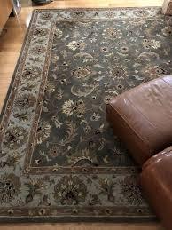 thomasville green 8x10 wool oriental area rug carpet