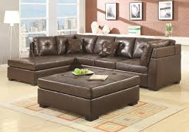 casual brown bonded leather sectional revitalized furnishingsrevitalized furnishings