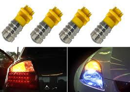 Details About 3157 7w Led Yellow Amber Replace Sylvania Brake Tail Light Bulbs Lamps W903