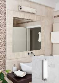 modern bathroom with contemporary vanity light