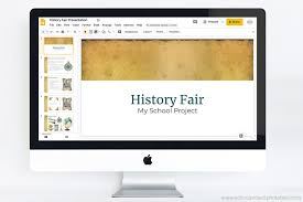 Powerpoint History History Fair Old Burnt Paper Powerpoint Template Theme