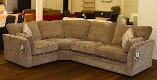 beige crushed velvet chenille fabric corner sofa