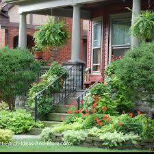 Trellis Designed Landscape For Front Yard And Porch Front Yard Landscape Designs Front Porch Ideas Porch Landscaping Ideas For Your Front Yard And More