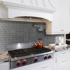 gray tile backsplash design