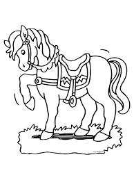 Kleurplaat Paard Zadel Sierlijk Kleurplatennl