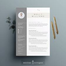 Resume Template 4 Page Cv Template Cover Letter For Ms Word Instant Digital Download The Minerva