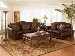 full size of living room brown leather sofa with curved wooden frame and base also cushions