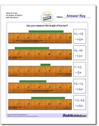 Measure Inches Ruler All V1 Math Measurement Worksheets Fun 4th ...