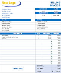 sample billing invoice free excel invoice templates smartsheet