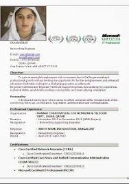 ccna certified resume format resume format