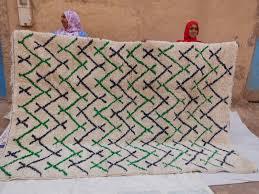 green black pile knot rug