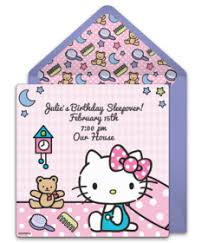 Free Online Birthday Invitations To Email Free Hello Kitty Online Invitations Punchbowl
