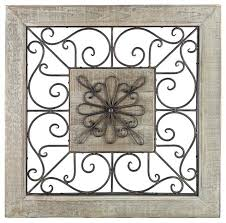iron wall decorations decorative metal wall panels scroll framed wall decor metal and wood rustic