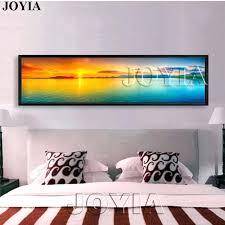 wall arts panoramic canvas wall art nature landscape painting large sunset sea panorama