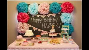 Small Picture Baby girl first birthday party decorations at home ideas YouTube