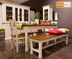Essgruppe Kreta Essecke Pinie Set Esstisch 4 Stühle Bank Massiv