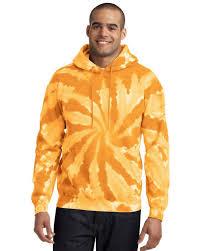 Port Company Pc146 Men Tie Dye Pullover Hooded Sweatshirt