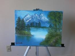 a 10 year old girl attempt at bob ross s the joy of painting not bad