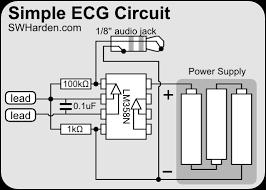 diy ecg machine on the cheap swharden com ecg schematic