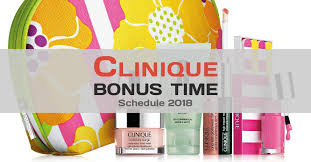 Current & upcoming free offers - Clinique Bonus Time - June 2018