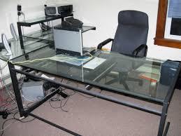 glass desk for office. computer table office depot glass desk e home design michaelmcknight for c