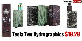 tesla two sub mod amazing tesla box mod 0 1ohm 40a 100w tesla two hydrographics 19 29 vaping