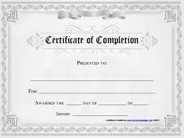 Certificate Of Completion Templates Certificate Of Completion Template Word Templates Example