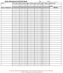 Teachers Attendance And Roll Book