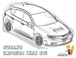 Powerful Car Printables Subaru Impreza Wrx