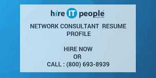 Network Consultant Resume Profile Hire It People We Get It Done
