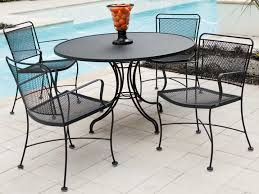 view woodard mesh wrought iron 48 round table with umbrella hole