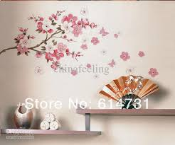 Small Picture Flowers Butterfly Wall Sticker Sakura Butterfly Wall Paper Cherry