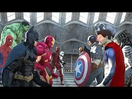 batman vs superman vs captain america vs ironman vs hulk vs deadpool vs spiderman vs goku youtube batman superman iron man