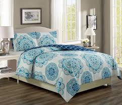 ivanna teal navy reversible bed in a bag set king