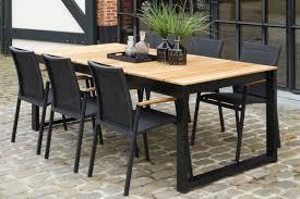 bermudafied modern teak white black aluminum luxury outdoor furniture design dining table chairs hotel hospitality patio
